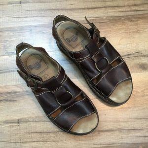 Dr. Martens Vintage Fisherman Sandals Brown US 11